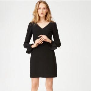 Club Monaco V-Neck Long Sleeve Mariney Mini Dress